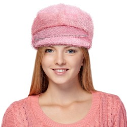 Pink Furry Biker Hat
