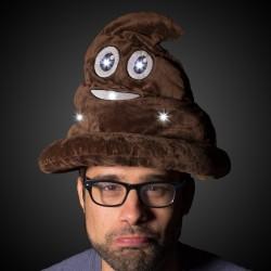 LED Poop Emojicon Hat