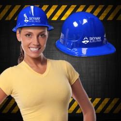 Blue Plastic Novelty Construction Hat