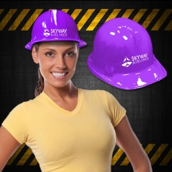 Purple Plastic Construction Hat