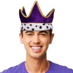 Royal Purple  Velvet Crown