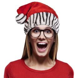 Zebra Print Santa Hat