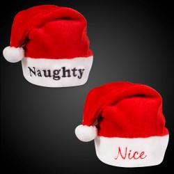 Nice & Naughty Santa Hats
