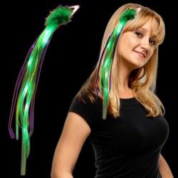 Mardi Gras Light Up Diva Ribbon Fascinator