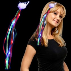 Rainbow Light Up Diva Ribbon Fascinator