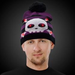 Skull and Crossbones LED Knit Hat