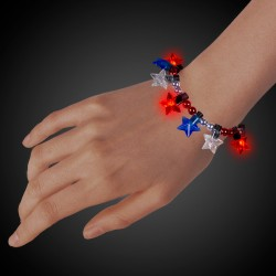 LED Patriotic Star Bead Bracelet
