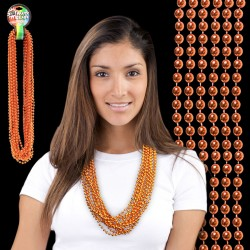 Metallic Orange Bead Necklaces