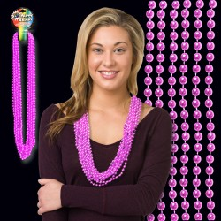 Light Pink Metallic Bead Necklaces