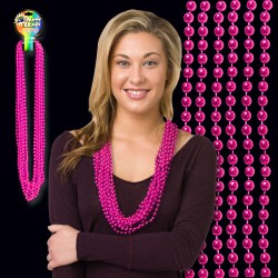 Pink Metallic Bead Necklace