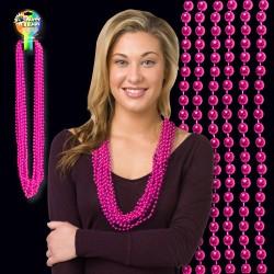 Pink Metallic Bead Necklace