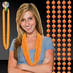 Orange Mardi Gras Beads