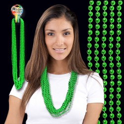 Metallic Green Beaded Necklace