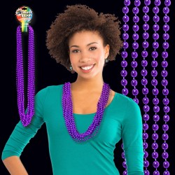 Purple Metallic Bead Necklaces