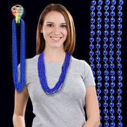 Blue Metallic Beaded Necklace