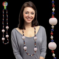 Baseball Beaded Necklace - 42 Inch