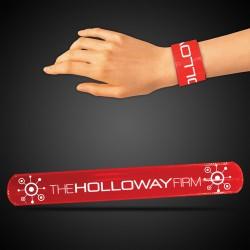 "8 3/4"" Red Slap Bracelets"