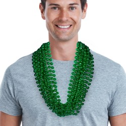 "Green 33"" 12mm Bead Necklaces"