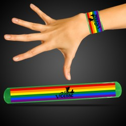 Green Rainbow Pride Slap Bracelet