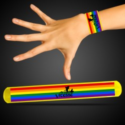 Yellow Rainbow Pride Slap Bracelet