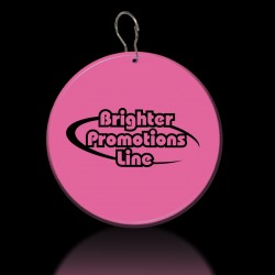 Pink Circle Plastic Medallion Badges
