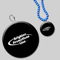 Black Circle Plastic Medallion Badges