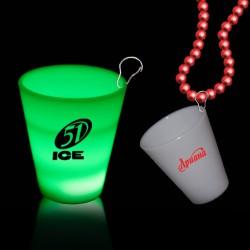 Green LED 2oz Shot Glass Medallion