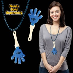Blue & White Hand Clappers w/ J - Hook