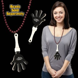 Black & White Hand Clappers w/ J - Hook