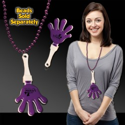 Purple & White Hand Clappers w/ J - Hook