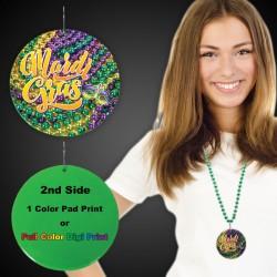 "Mardi Gras Beads Medallions2 1/2"""