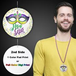 "Mardi Gras Mask Medallions2 1/2"""