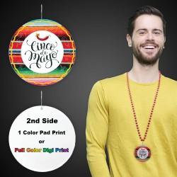 "Cinco De Mayo Plastic Medallions2 1/2"""