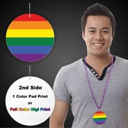 """Rainbow Plastic Medallions2 1/2"""""""