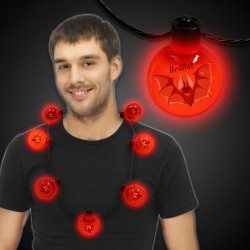 Red LED Ball Necklace
