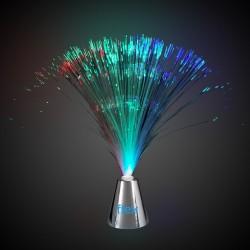 Fiber Optic Centerpiece - Silver Base - 13 1/2 Inches