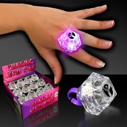 """Flashing Jewel Ring - 1 3/8"""""""