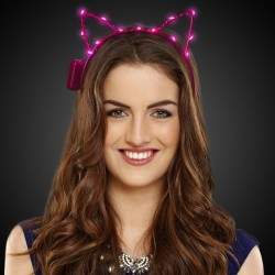 Pink LED Cat Ear Headband