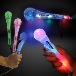 Light Up LED Toy Microphones - 9 Inches