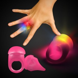 Pink LED Jelly Rings