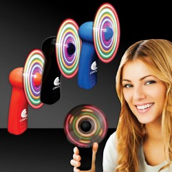 "4"" Light Up Hand Held Imprintable Fans - Variety of Colors"