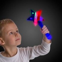 LED Flashing Star Prism Wand