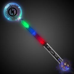 Jumbo Light Up Circle Wand with Prism Ball