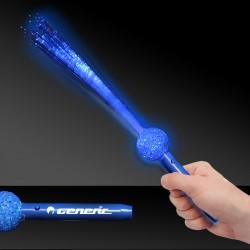Blue LED Flashing Fiber Optic Wand - 15 Inch