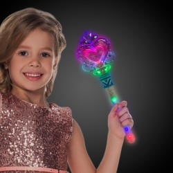 LED Heart Wand with Light-Up Handle