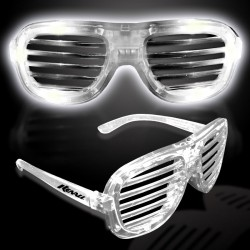 White LED Slotted Glasses
