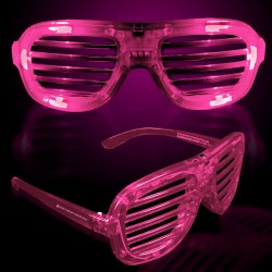 Pink LED Slotted Glasses