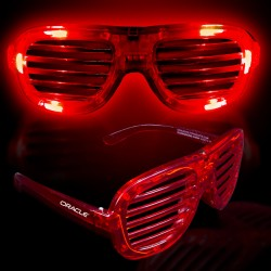 Red LED Slotted Glasses
