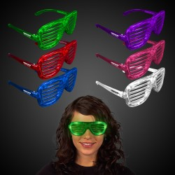 Light Up Slotted Shutter Shade Glasses