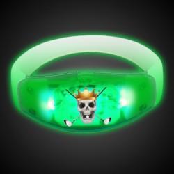 Sound Activated Green LED Stretchy Bangle Bracelet